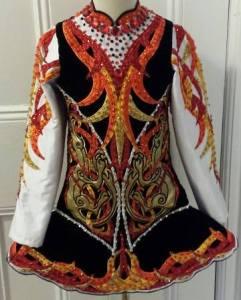 Dragon themed Irish dress for sale